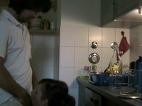 Джастин вздёрнул свою подружку у себя на кухне