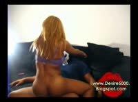 Горячее любительское порно с потрясной блондочкой